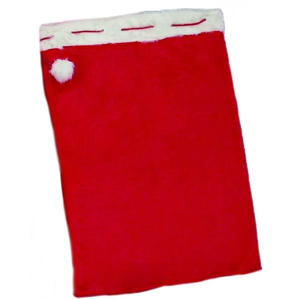 Red Sack With Fur Trim - 90cm x 60cm