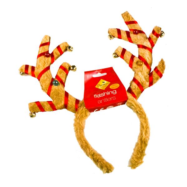Flashing Jingle Bell Antlers