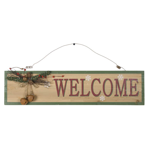 Gisela Graham Decorative Welcome Plaque - 15cm x 60cm