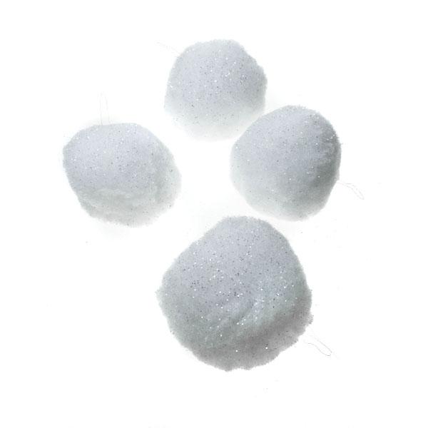 White Snowballs - 4 x 80mm