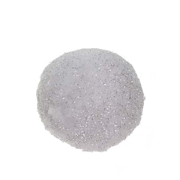 White Sparkle Snowball Range - 10cm Ball