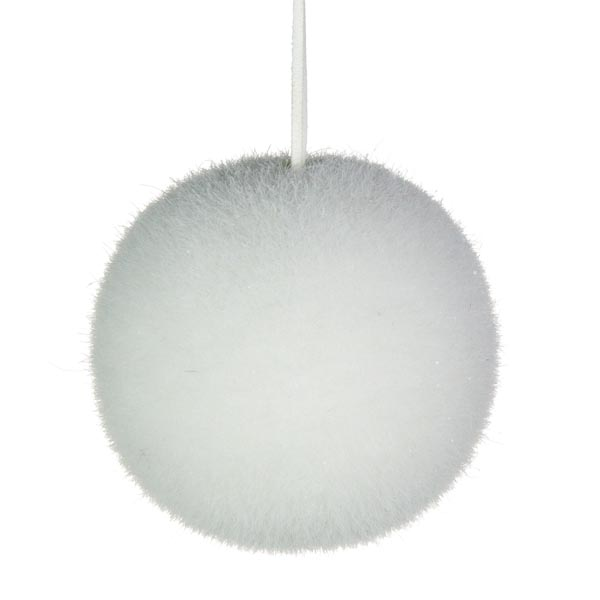 Bristly Snowball With Iridescent Flecks - 100mm
