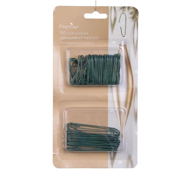 Twin Pack Of 150 Ornamental Hooks - Green