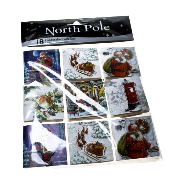 Pack Of 18 Traditional Christmas Tags