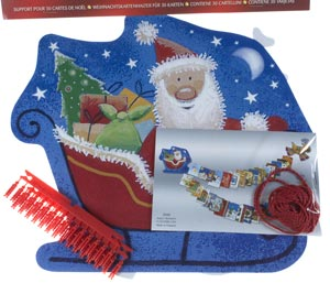 Santa's Reindeer 30 Peg & String Cardholder