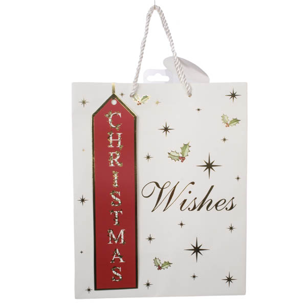 Christmas Wishes Foil Finish Large Gift Bag