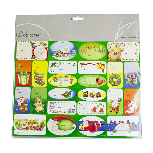 48 Assorted Sticker Gift Tags - Option 1