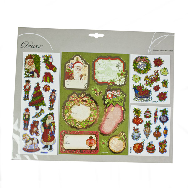 Assorted Sticker Gift Tags - Sock