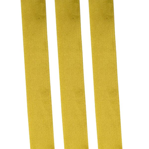 Light Gold Double Face Satin Ribbon - 25m x 38mm
