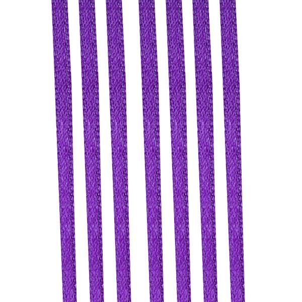 Purple Double Face Satin Ribbon - 50m x 3.5mm