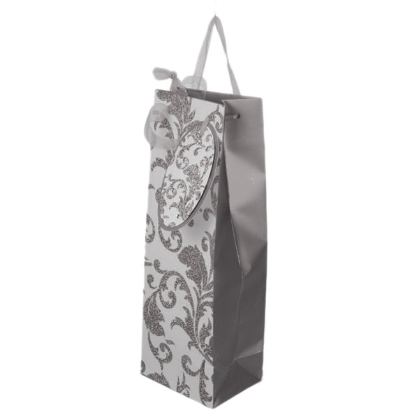 Silver Glitter & Gem Bottle Bag