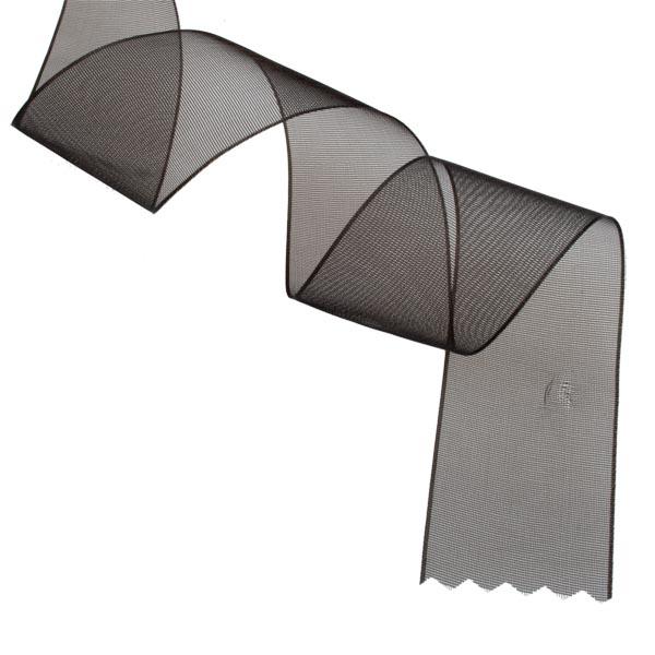 Black Organza Woven Edge Ribbon - 25m x 25mm
