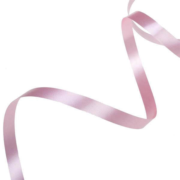 Rose Pink Poly Plain Ribbon -25m x 10mm