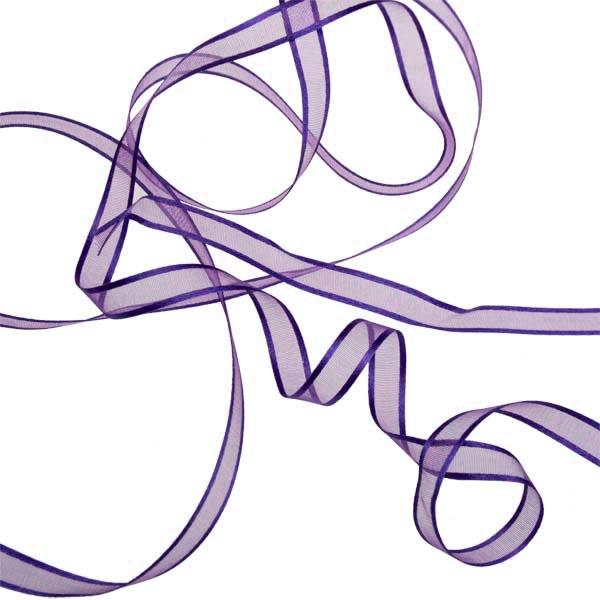 Purple Organza Satin Edge Ribbon - 10mm X 50m
