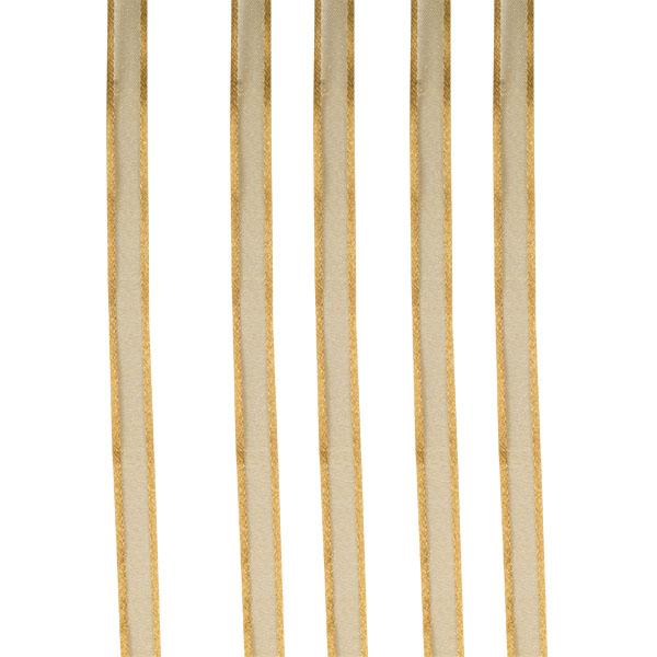 Gold Organza Satin Edge Ribbon - 10mm X 50m