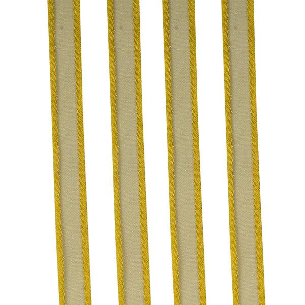 Light Gold Organza Satin Edge Ribbon - 10mm X 50m