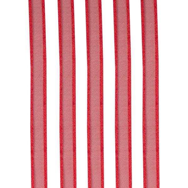 Red Organza Satin Edge Ribbon - 10mm X 50m