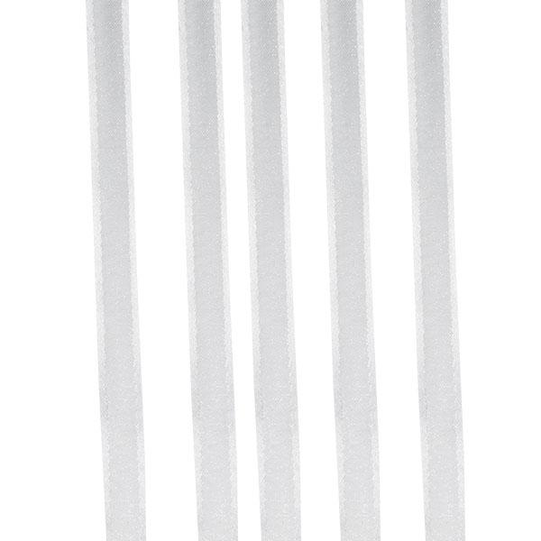White Organza Satin Edge Ribbon - 10mm X 50m
