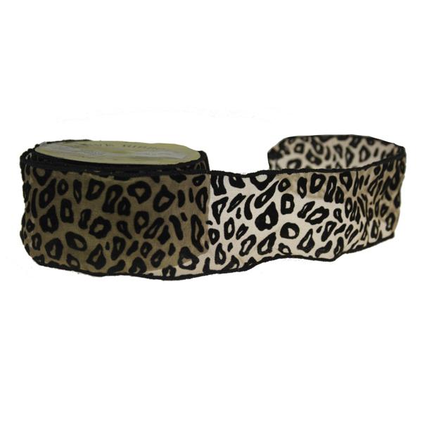 Cheetah Print Ribbon - 6cm X 9m