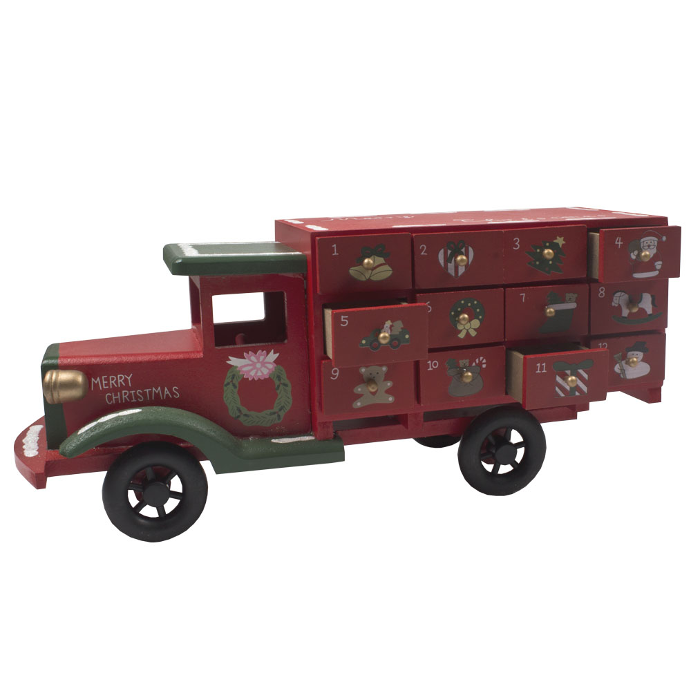 Christmas Wooden Truck  Advent Calendar