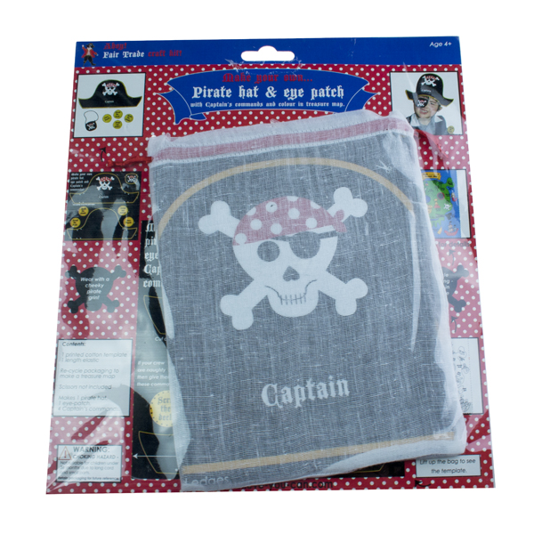 Believe You Can Fair Trade Pirate Hat & Eye Patch Kit