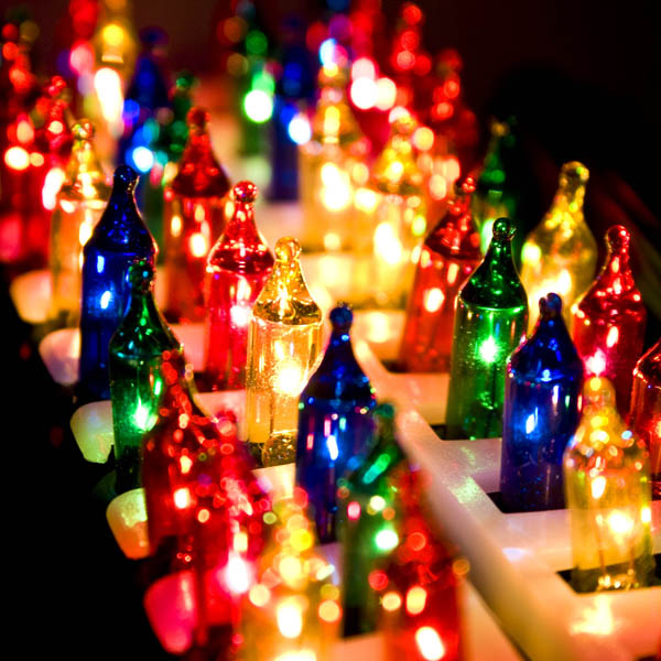 Konstsmide 5.85m Length Of 40 Multi Coloured Outdoor Static Fairy Lights Green Cable