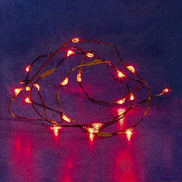 Konstsmide 2.55m Length Of 20 Indoor USB Red Static/Flashing LED Fairy Lights Wire Cable