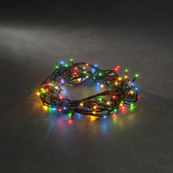 Konstsmide 4m length of 100 Multi Coloured Indoor And Outdoor Multi Function LED Fairy Lights