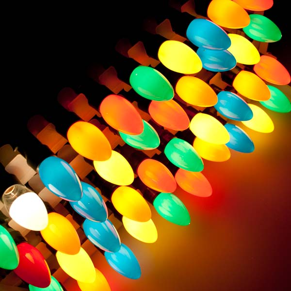 noma 897m length of 40 multi coloured indoor and outdoor static harlequin cone fairy lights black cable
