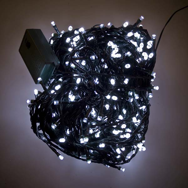 48m Length Of 480 White Multi Action Outdoor Premier Supabrights Led Fairy Lights Green Cable