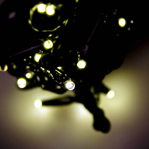 Konstsmide 6m Length Of 40 White Indoor and Outdoor Static Micro LED Fairy Lights Black Cable