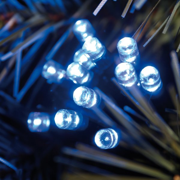Noma 2.73m Length Of 40 Blue Indoor And Outdoor Static LED Fairy Lights Green Cable