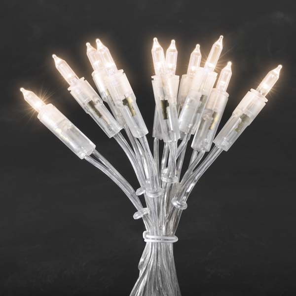 Konstsmide 2.85m length of 20 Indoor Static Warm White LED Fairy Lights Transparent Cable