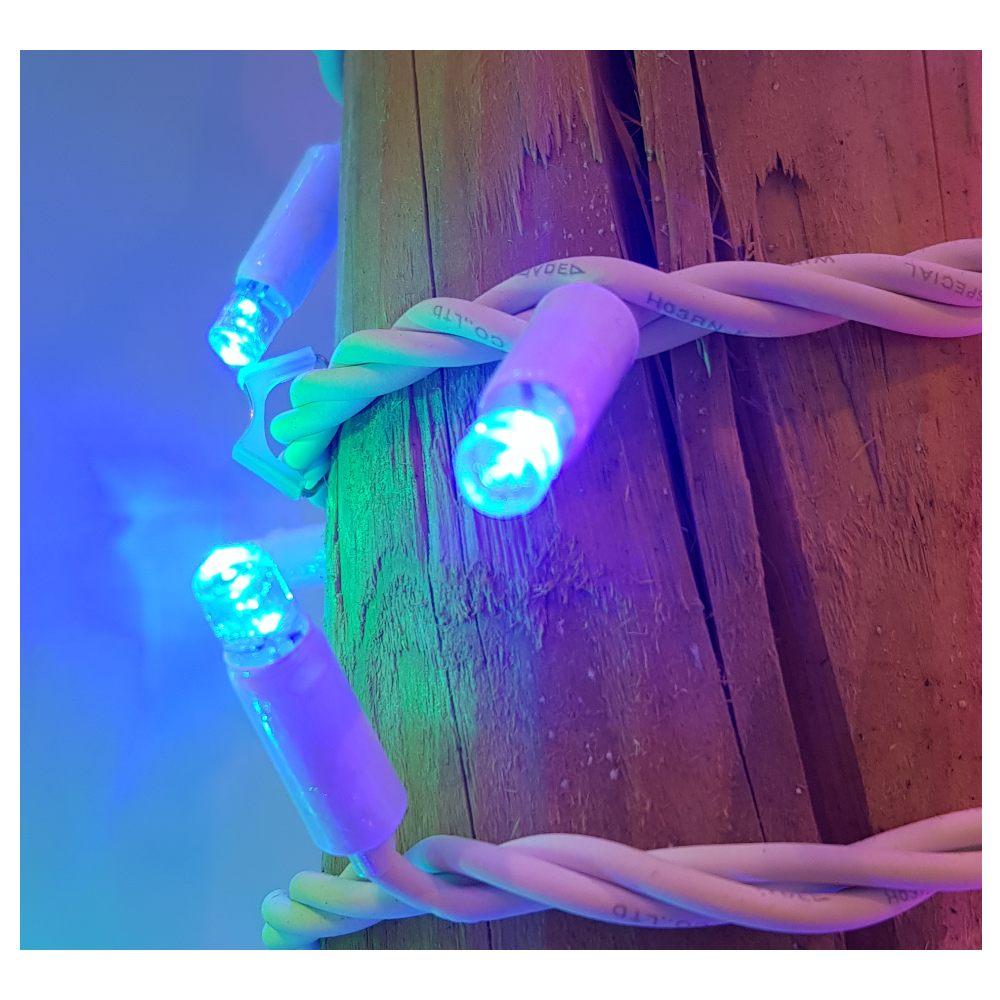 Idolight 230v LED STRING Light - Blue - 4m White Cable - Static