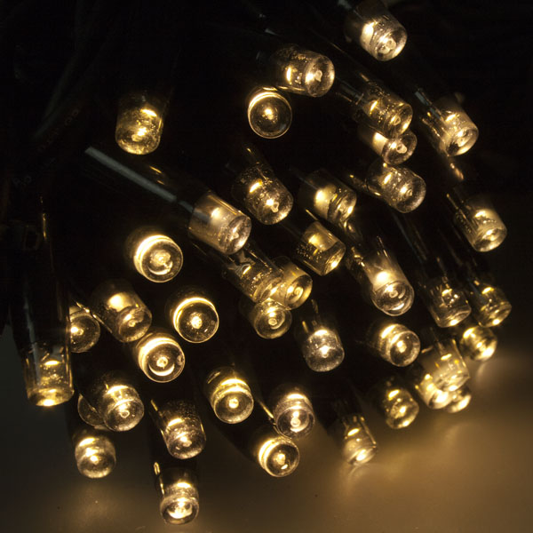 Idolight 20m Length Of 188 Warm White Indoor & Outdoor Connectable Static LED String Lights On Black Rubber Cable