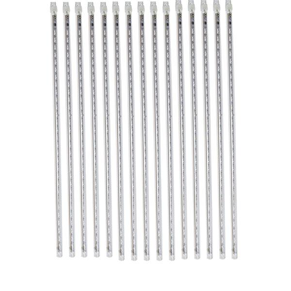 White LED Digital Snowfall Lights - 15 X 50cm Tubes