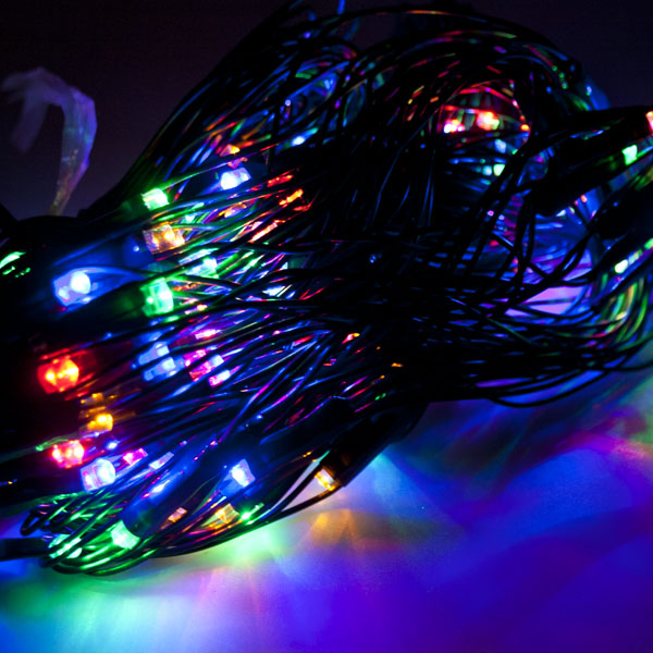 1.75m x 1.2m Set of 180 Multi Coloured Multiaction LED Net Light