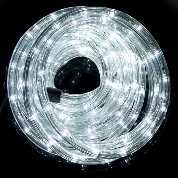 Multi Action 9m Outdoor White LED Ropelight