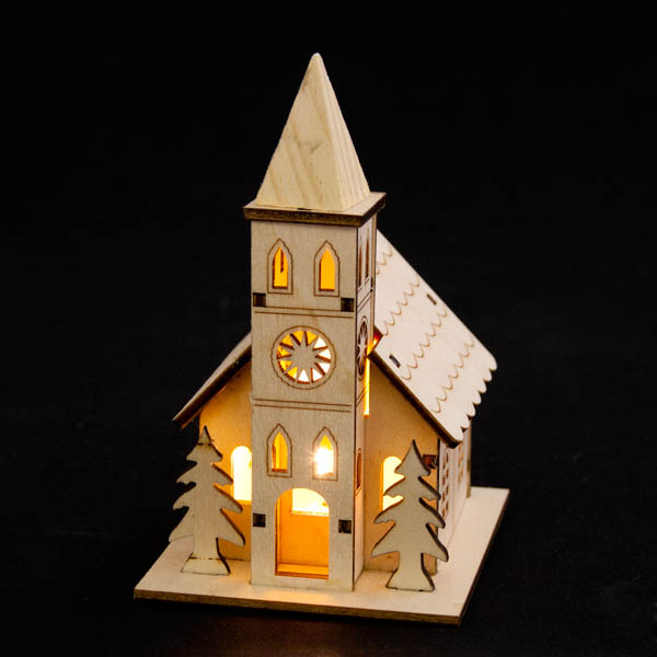 Noma Laser Cut Crafted Wooden Church