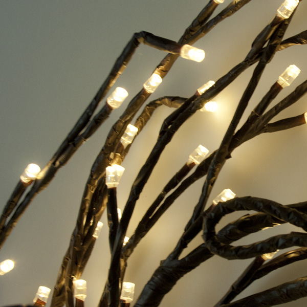 Festilight 1.5m 120 Warm White Static Brown wrapped LED Branch Indoor and Outdoor