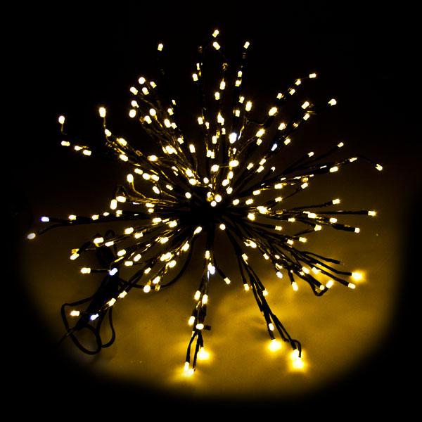 Festilight 3D White flashing 50cm 30 branch 240 Warm White LED Galactic Black Star