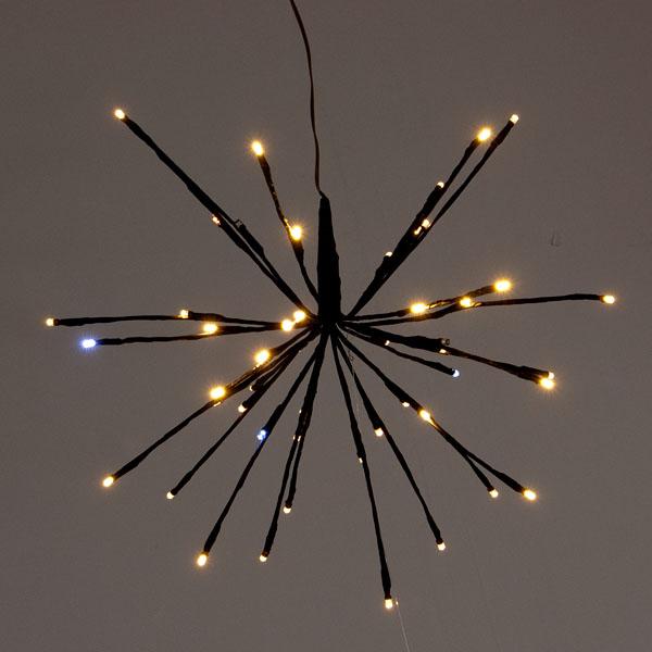 Warm White LED Sparkle Ball Light - 30cm