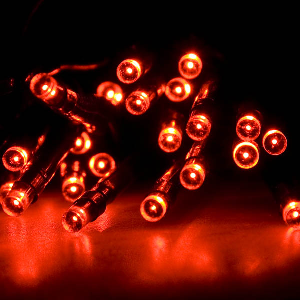 Noma 1 9m Length Of 25 Red Indoor Static Led Battery Operated Fairy Lights Green Cable