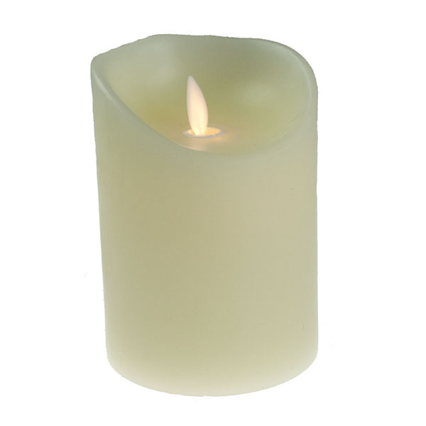 Battery Operated Dancing Flame Cream Candle - 13cm