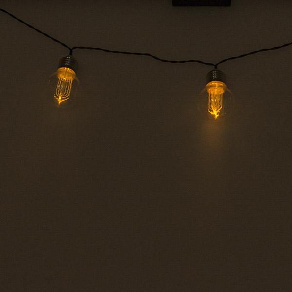 Battery Operated 10 x 5cm Edison Bulb White LED Light Set