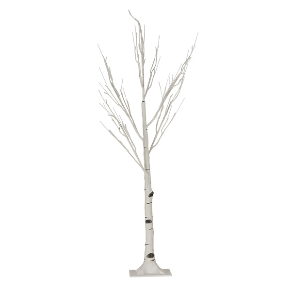 Pre-lit Birch Twig Tree Suitable For Outdoor Use With White LED's - 125cm