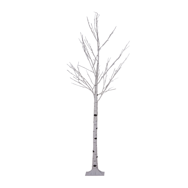 Pre-lit Birch Twig Tree Suitable For Outdoor Use With Warm White LED's - 240cm