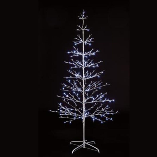 Pre-lit Silver Twig Tree With White LED's - 1.8m