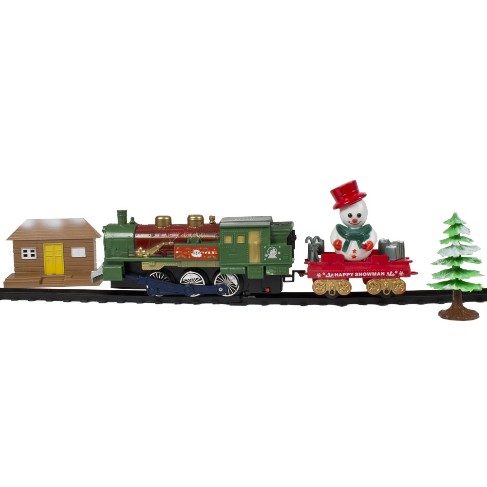 Battery Operated Christmas Tree Train - 14pieces