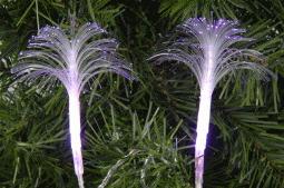 Set Of 20 Decorative Pink LED Fibre Optic Flower Lights